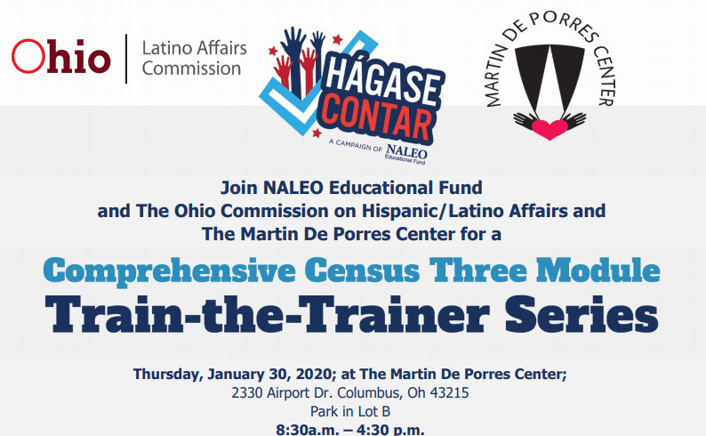 Free One Day Census 2020 Train the Trainer Workshop – Columbus, Ohio