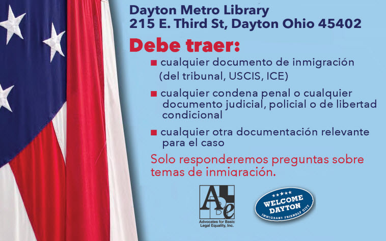 Welcome Dayton/ABLE Immigration Advice Clinic